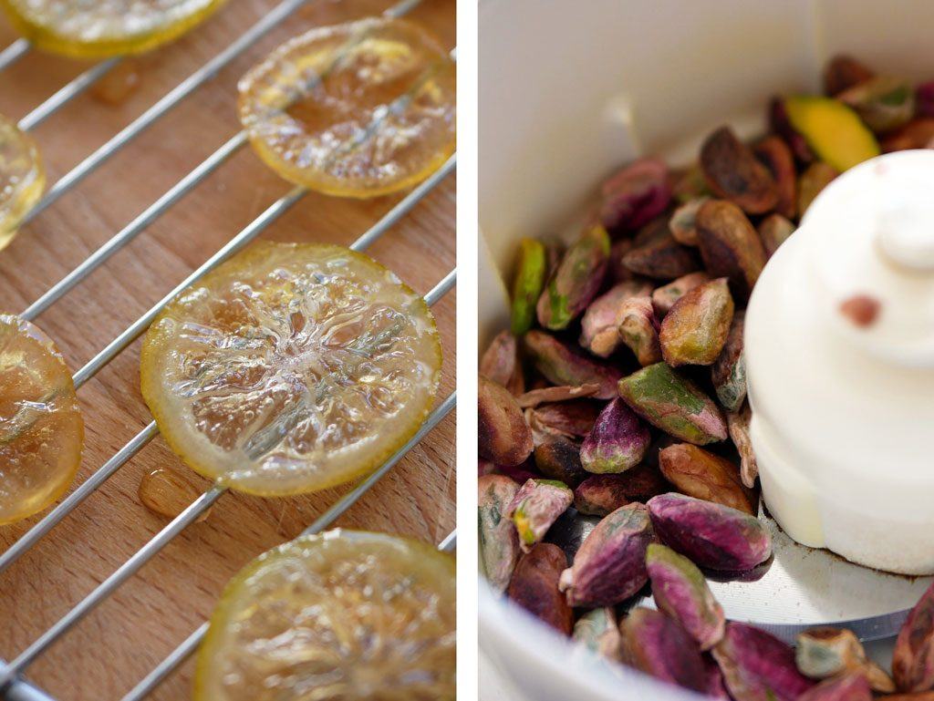Candied lemons & pistachios