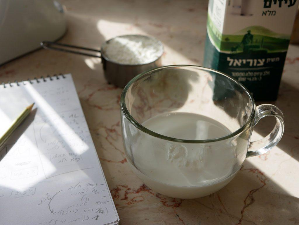הכנת מלבי מחלב עיזים