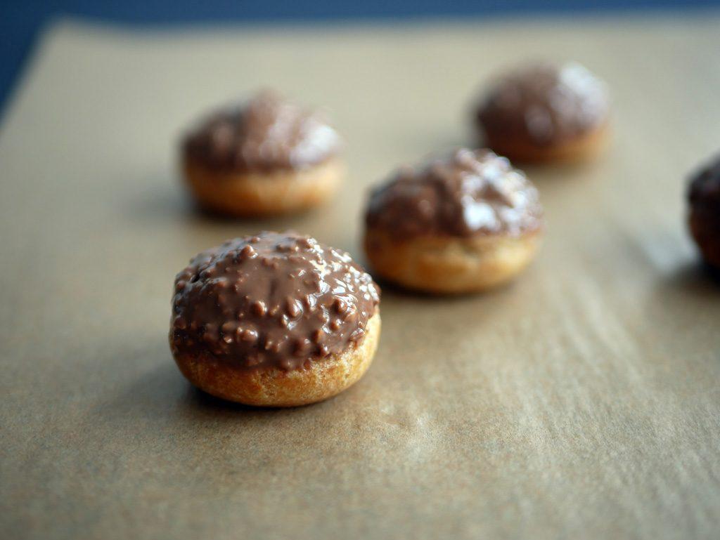 Ferrero Rocher profiteroles