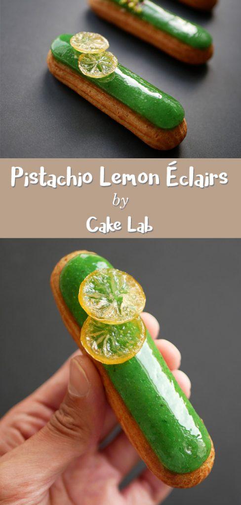 Pistachio Lemon Éclairs