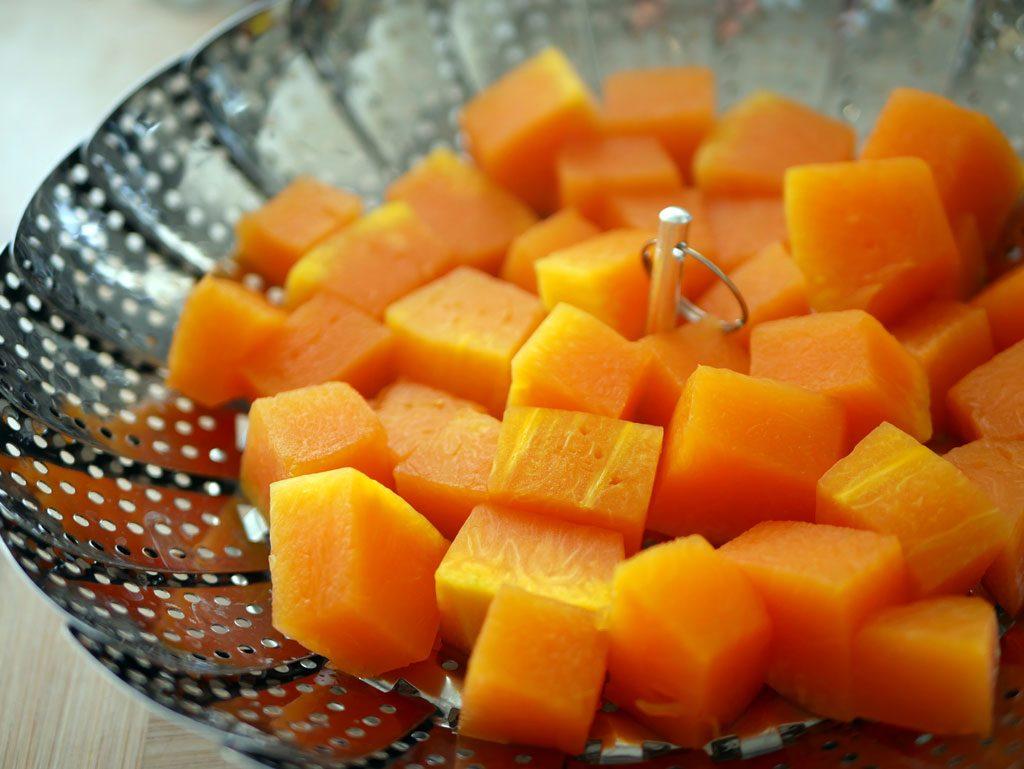 Pumpkin steaming