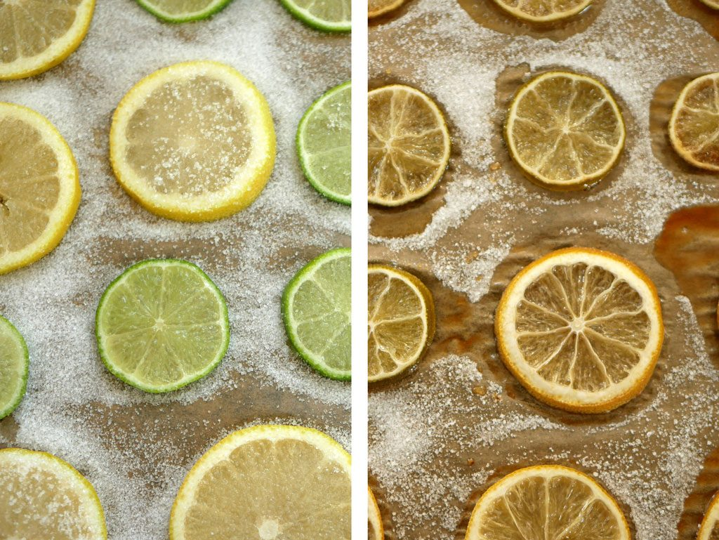 Candied Lemon-Lime slices