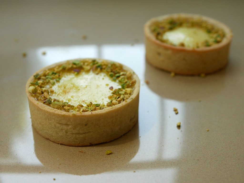 Lemon-Lime pistachio tartlets