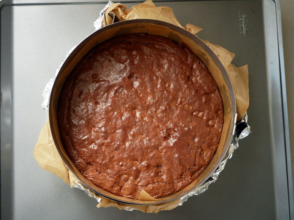 first layer: brownies