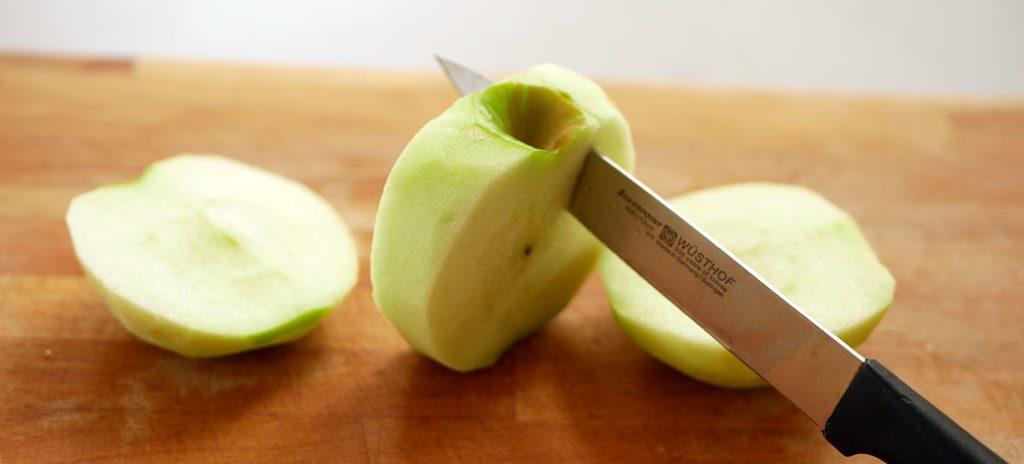 חיתוך תפוחים
