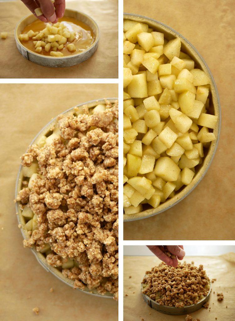 Assembling the Apple & Honey Tart