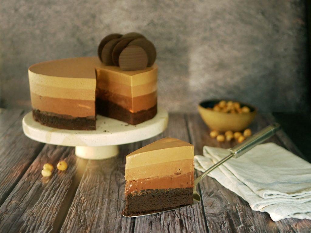Coffee Gianduja Chocolate Mousse Cake