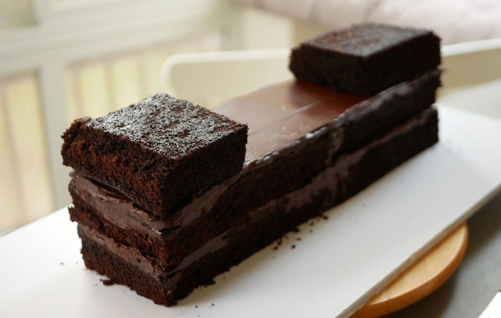 עוגת שוקולד בצורת ספינה