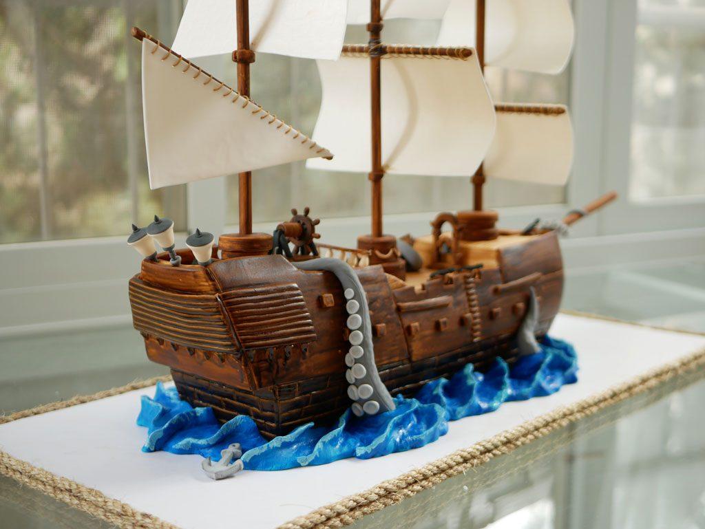 עוגת ספינת פיראטים