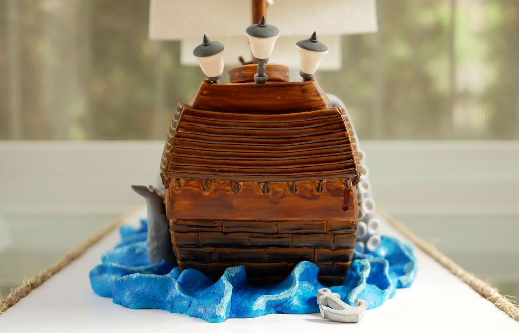 back of ship cake