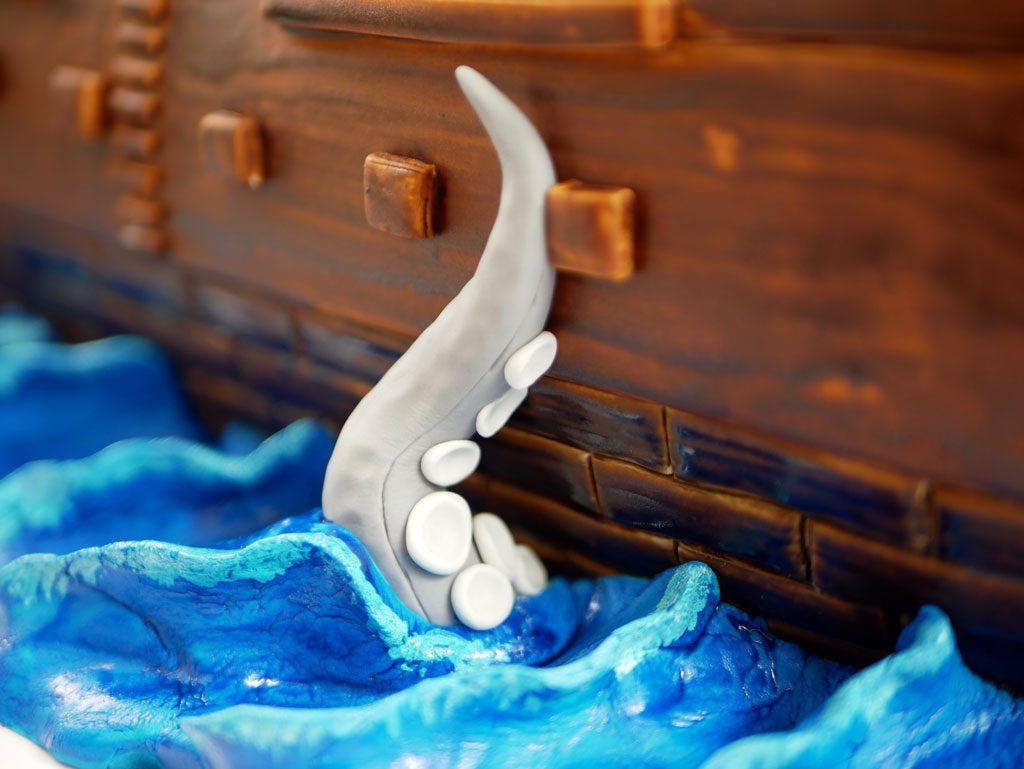 יצירת ים מבצק סוכר