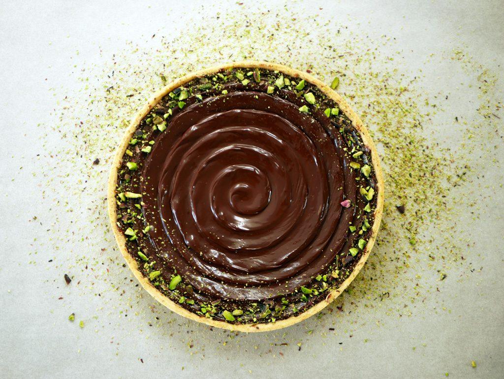 טארט שוקולד פיסטוק