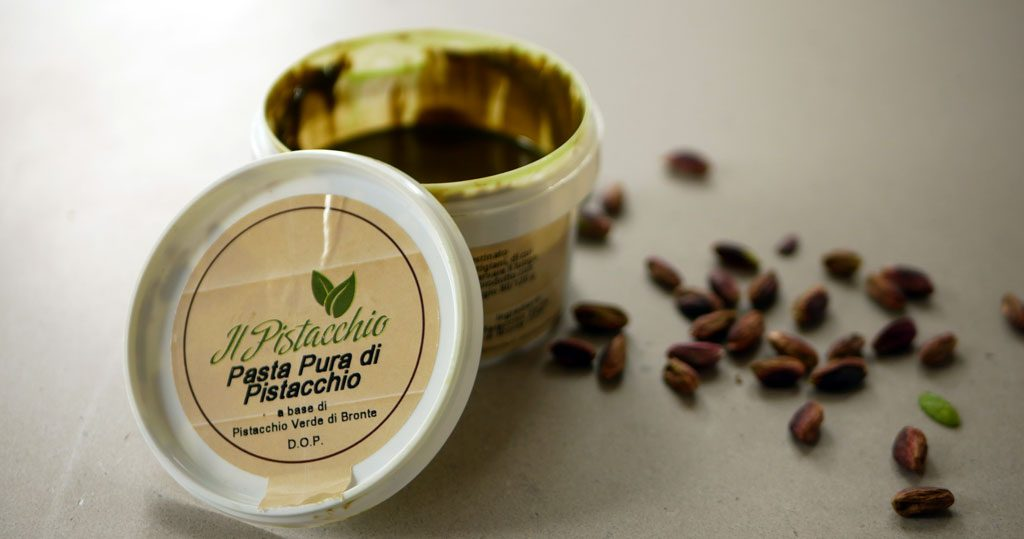 Pistachio paste from Bronte
