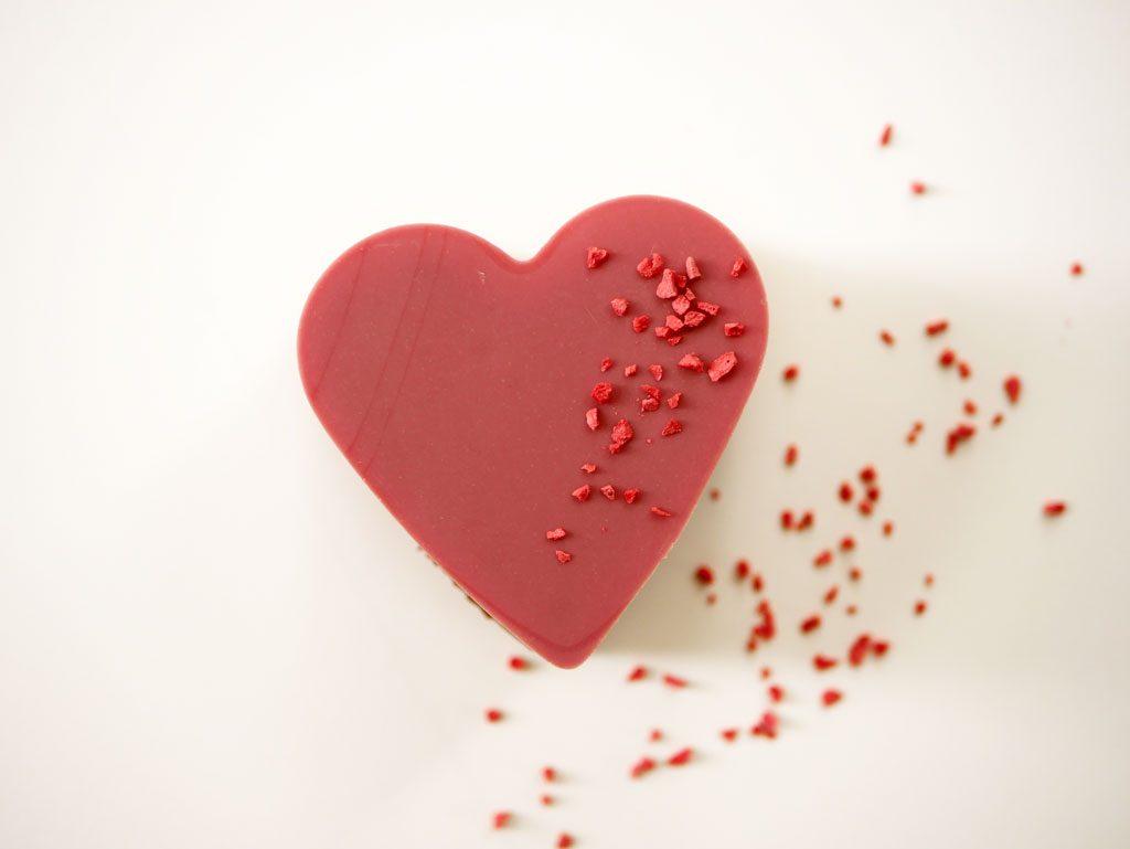 לב שוקולד רובי