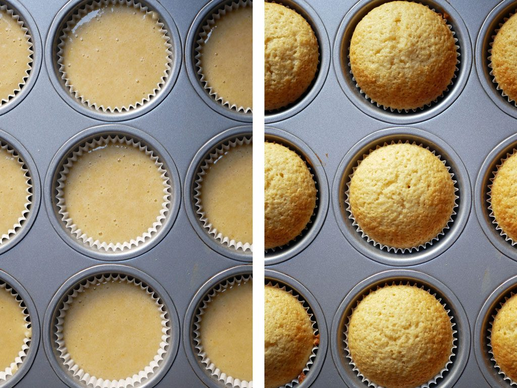 Cupcakes before and after