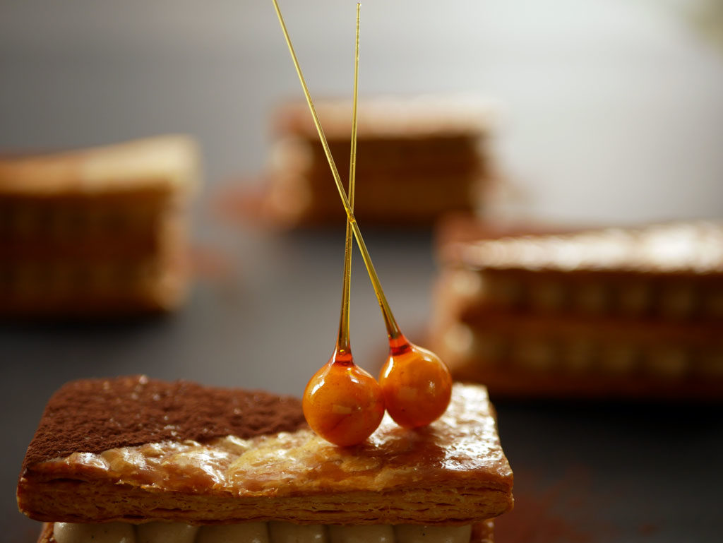 Coffee and Hazelnut Mille-feuille