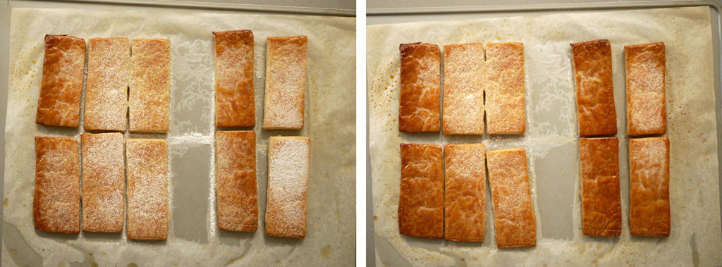 Baking puff pastry