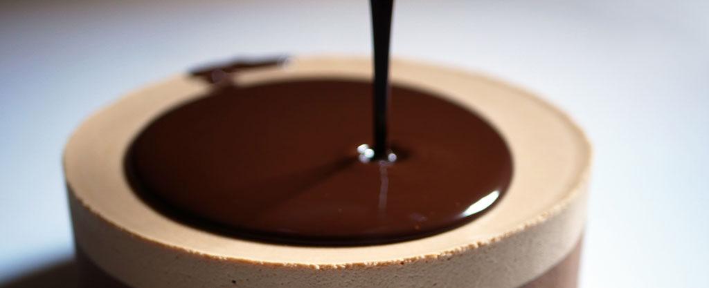 Pouring the ganache