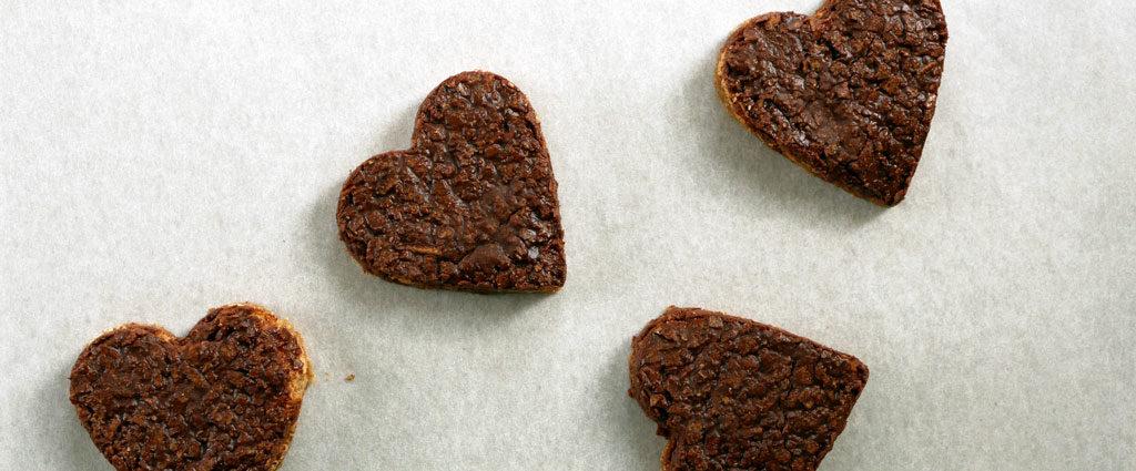 Hazelnut dacquoise hearts